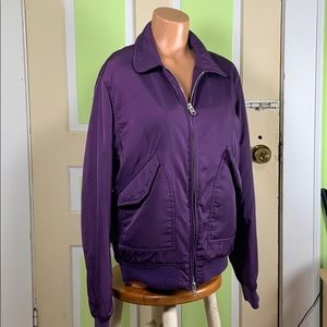ASOS bomber jacket purple medium